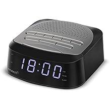 Sunstech FRD40BT - Radio Despertador con 50 presintonías (Bluetooth V 4.0, Alarma Dual,