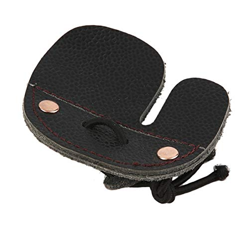 Nosii 1 STÜCK Kuh Leder Bogenschießen Fingerschutz Schutzpolster Handschuh Tab Bogen Schießen Protector -