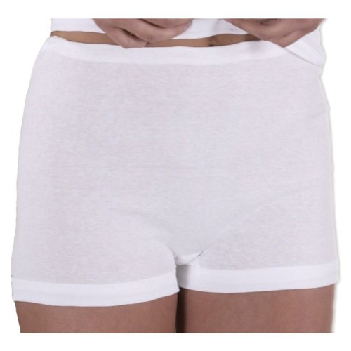 HERMKO 1650 pack of 3 briefs with short legs and drawstring womens boy shorts made of 100/% fine-ribbed cotton