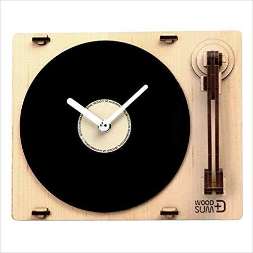 E Fuji (EFG) Sum Drehteller-Uhr, natürliches Holz, Montage-Kit aus Ahorn -