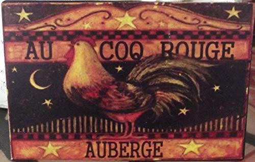 Antic Line Plaque « Auberge du Coq Rouge »15 * 10 cm