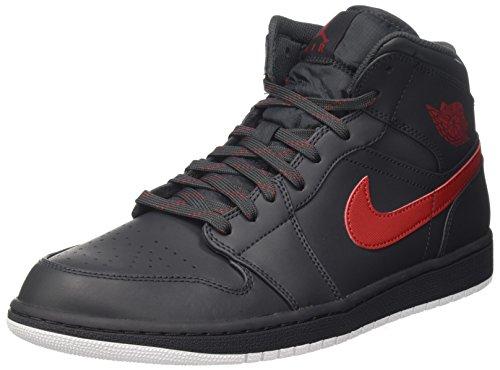 Nike Air Jordan 1 MID Herren Schuhe Sneaker, Schwarz, 45 EU (Jordan Schuhe 45)
