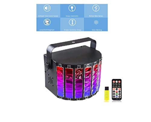 o Lichter RGB LED DJ Party Licht Sound Aktiviert Farbe Bühnenbeleuchtung Mit Fernbedienung für Tanzen Thanksgiving KTV Bar Club Gesang Konzert (9 Farben) ()