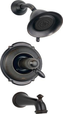 Delta Faucet T17T455-RB Victorian, TempAssure 17T Series Tub and Shower Trim, Venetian Bronze by DELTA FAUCET -