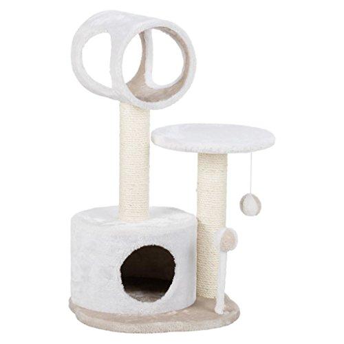 Trixie gatti 44768palo tiragraffi lucia, 75cm, bianco e beige chiaro