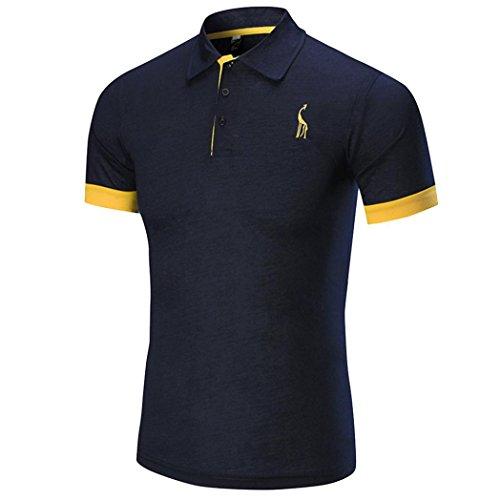 TUDUZ Herren Sommer Modernes Business Kurzarm Shirt Slim-Fit Rundhals Basic T-Shirt Poloshirt Muskelshirt Sweatshirt M-XXL (Lustige Selbstgemachte Halloween Kostüme)