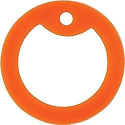 Pack de 5 silenciadores de colores para etiquetas de perro del ejército (naranja)