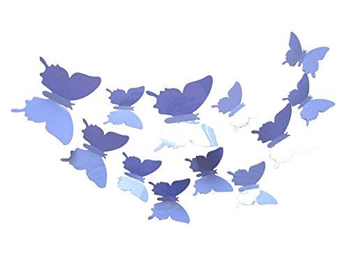 Dosige 3D Schmetterlings-Aufkleber Wandtattoos Wandaufkleber Schmetterling Abnehmbare Wandtatoo Wandsticker Sticker Wand Aufkleber 12 Stück Schmetterlings (BAU)