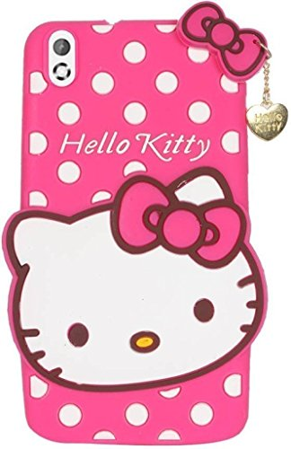 Qzey Nice Hello Kitty Case Cover For Htc Desire 816 - Pink