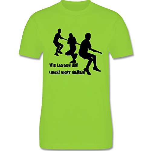 JGA Junggesellenabschied - Wir lassen ihn noch nicht gehen - Herren Premium T-Shirt Hellgrün