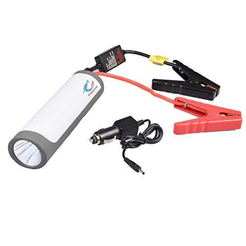 Preisvergleich Produktbild Autobatterie Ladegerät, Tragbare Auto Starthilfe,  Autobatterie Anlasser,  Externer Akku Ladegerät mit 200M LED Taschenlampe,  spezielle SOS Signal für Laptop,  Smartphone,  und vieles mehr(gray)