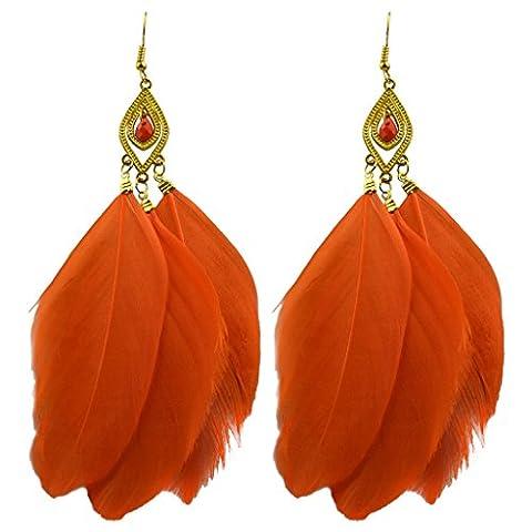 Forfait Orange - Jiayiqi Filles Nouveau Été Style Plume Douce