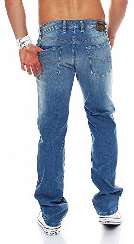 DIESEL Jeans Waykee Regular Straight Denim Hose Hellblau OR10A