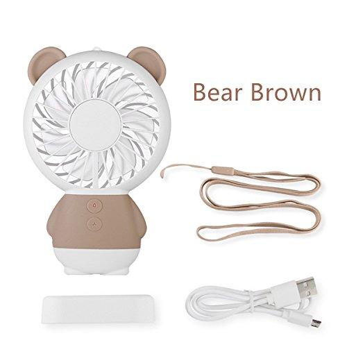 Tragbare Handheld-& Halskette Lüfter, USB, wiederaufladbar, Lüfter mit LED-Atmosphäre und ideal für Innen- oder Außenbereich activitie Geschenke für Kinder