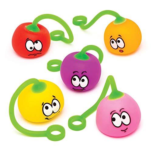 Baker ross palline oscillanti con faccine buffe (confezione da 6) - giocattolo allungabile, perfetto per buste sorpresa e come idea regalo per bambini