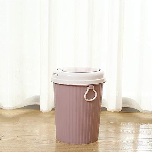 WFKLLL Splash Cover Mülleimer Wohnzimmer Plastikmüll, Home Küche Bad groß mit Abdeckpapier Cover Pink Splash