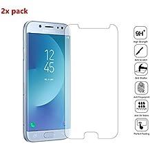 2x Protectores de Pantalla Samsung Galaxy J5 2017 / J530F, EJBOTH Vidrio Templado Protectora Cristal Transparente Invisible Protector de la Pantalla - 9H Anti-burbuja Alta definición