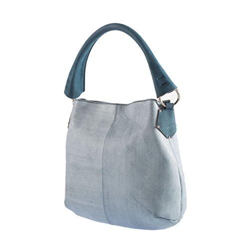 Tilla...Le Borse , sac bandoulière femme Bleu jeans
