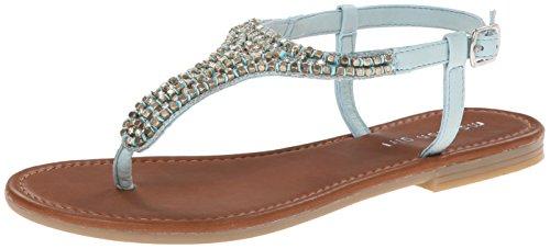 Madden Girl Ripplle Thong Sandal blue