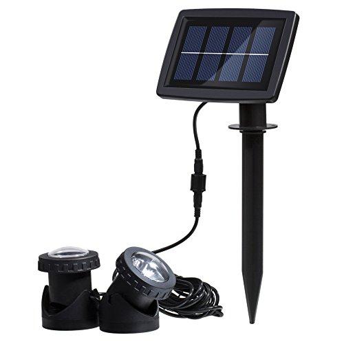 Docooler 12LED Solar Unterwasser Lampen mit Licht Sensor Technologie für Unterwasser Strahler Outdoor Landschaft -