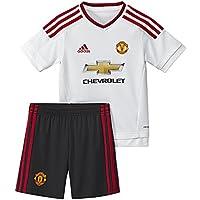 adidas MUFC A Mini - Chándal para niño, color blanco / rojo, talla 98