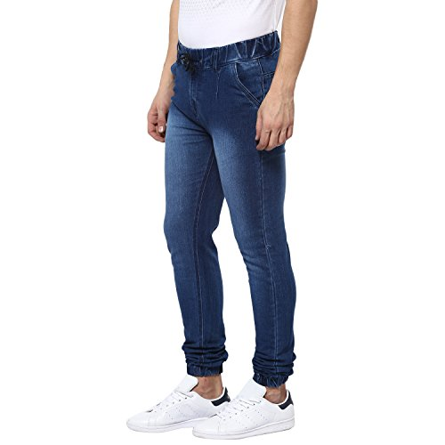 Urbano Fashion Men's Blue Slim Fit Stretchable Jogger Jeans (Size : 40)