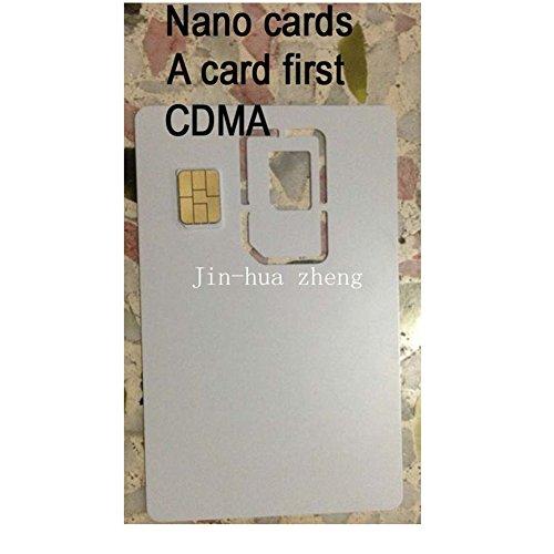 Preisvergleich Produktbild 10Pcs Mikro SIM Karte CDMA Karte kopieren Blank-Karte Klon-SIM-Karte Verpackung SIM-Karte Clone-Karte Für Europa und EU (Mikro CDMA)