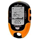 SIWEN North Edge Trova Localizzatore GPS Tracker Palmare del Ricevitore di Navigazione USB Ricaricabile con Bussola Elettronica per Viaggi All'aperto,Orange