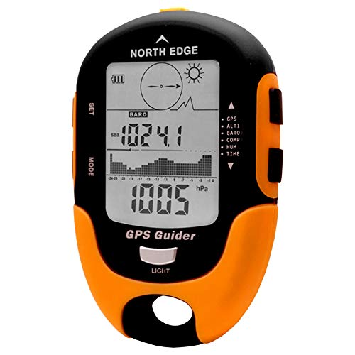 SIWEN North Edge Buscador De Localizadores GPS Receptor De Navegación De Mano USB Recargable con Brújula Electrónica para Viajes Al Aire Libre,A