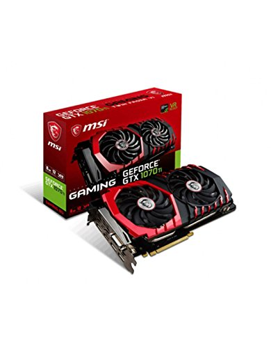 MSI GeForce GTX 1070TI Gaming 8GB Nvidia GDDR5 1x HDMI, 3x DP, 1x DL-DVI-D, 2 Slot Afterburner OC, VR Ready, 4K-optimiert, Grafikkarte
