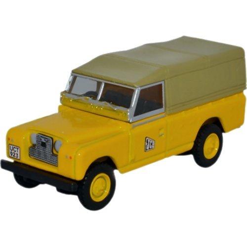 Land Rover Series II LWB Canvas, RHD, JCB, 0, Modellauto, Fertigmodell, Oxford 1:76