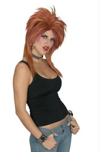 Rocker Perücke braun und schwarz Halloween Kostüme Cosplay Wig Perücke Haar für Maskerade Make-up Party