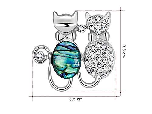 JxucTo Elegante Katze Brosche Hochzeit Bankett Brautkleid dekorative Corsage für Frauen Geschenk...