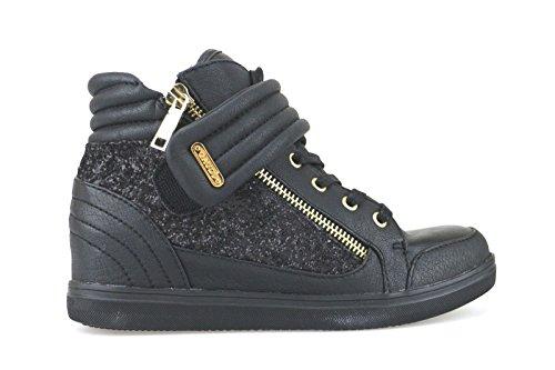 GAUDI' sneakers donna 36 EU nero pelle / glitter AJ39-B