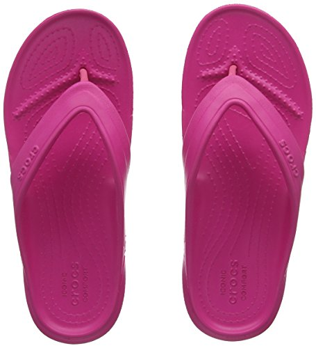 crocs Unisex-Kinder Classic Flip Kids Pantoffeln, Rosa (Candy Pink), 32/33 EU (J1 UK)