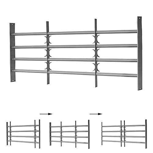 60x100-150CM Fenstergitter Stahl Einbruchschutz Balkongeländer Stabgeländer Stab