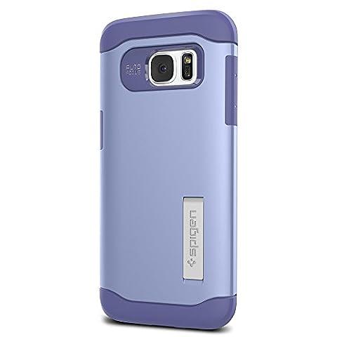 Coque Galaxy S7 Edge, Spigen [Slim Armor] AIR CUSHION [Violet] Air Cushioned Corners / Dual Layer Protective Coque Samsung Galaxy S7 Edge (2016) - (556CS20042)