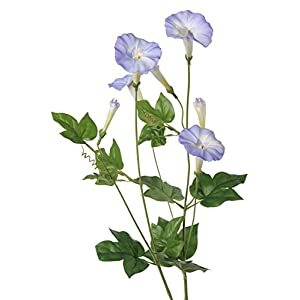 artplants.de Ipomoea Artificial NABILA, 4 Flores, Azul, 70cm – Campanilla Morada – Gloria de la mañana
