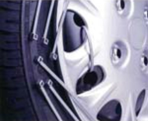Fascetta per copricerchi ruota, argento / grigio, 370mm x 4,8mm, 25 pezzi