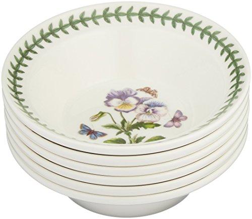 Portmeirion Botanic Garden Oatmeal/Soup Bowls, Set of 6 Assorted Motifs Portmeirion Botanic Garden Serveware
