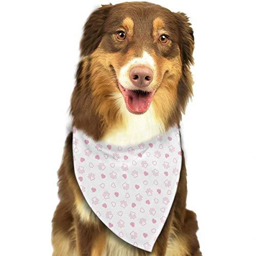 Wfispiy Hundepfote Herz Französisch Bulldog Muster weiche Baumwolle Klassische Tiere Bandana Haustier Hund Katze Dreieck Lätzchen - Bejeweled Tier