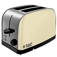 Russell Hobbs 18783 Dorchester 2-Slice Toaster, Cream