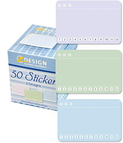 AVERY Zweckform 56822 Sticker auf Rolle, Einfrieren (38x58 mm, im Spender) 50 Aufkleber