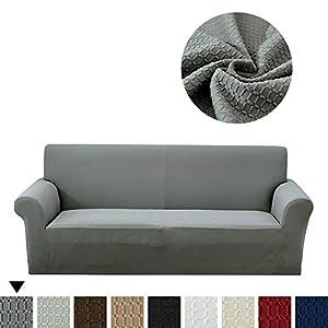 Lanqinglv Braun Elastisch Jacquard Sofaüberwurf Wasserabweisend Sofa Überwürfe 1/2/3/4 sitzer Sofabezug Einfarbig…