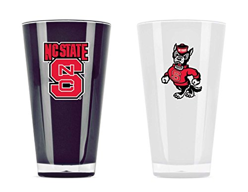 Duck House NCAA Unisex isoliert Acryl Tumbler, North Carolina State Wolfpack, 20 Ounce Twin Pack Alt Color (Pack Nc State)