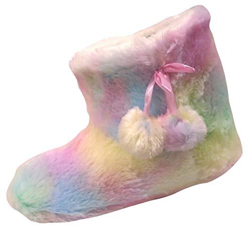Mesdames Rainbow Plush Pantoufles