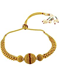 ACCESSHER Gold Plated Thushi Style Bajubandh/Armlet for Women