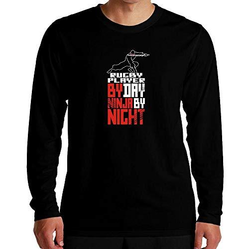 Idakoos Rugby Player by Day Ninja by Night Langarm T-Shirt M -