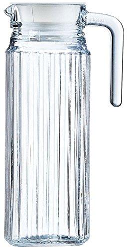 Arcoroc Quadro Nevera jarra con tapa de plástico blanco 110cl, 1 Jarr