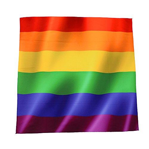 WABISABI DREAMS Gay Pride LGBT Bandana   Regenbogenstolz Homosexuell   Regenbogen   Multifunktionales Unisex-Bandana für Kopf, Hals, Schal oder Stirnband